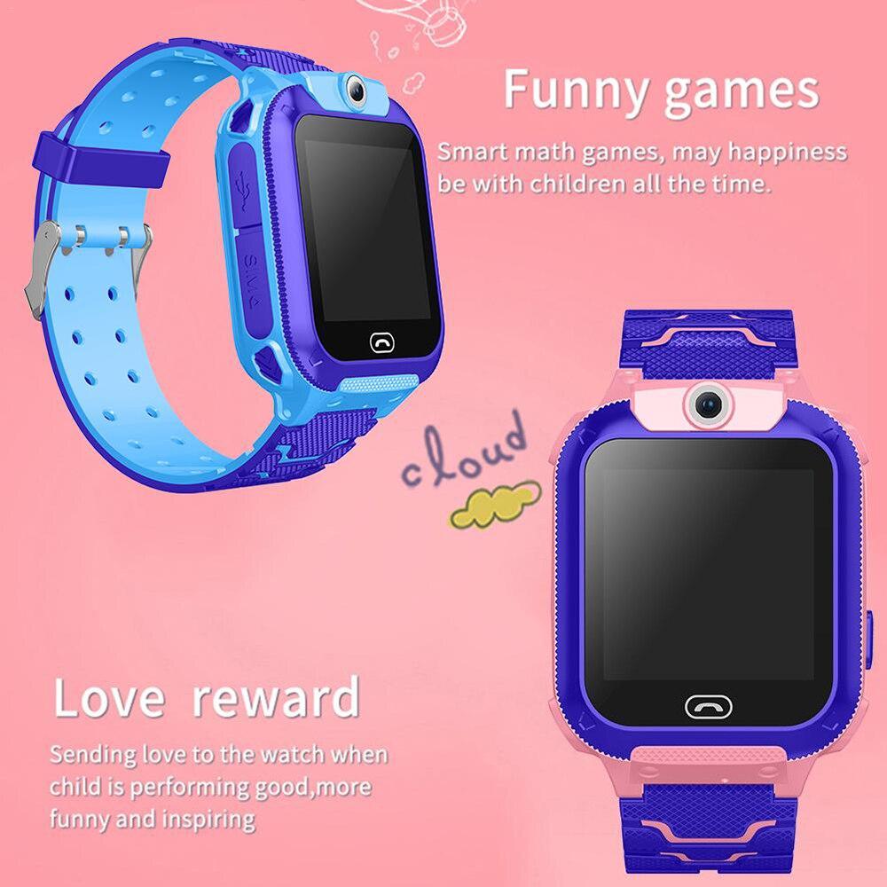 מקרנים ופלאזמות הילד GPS Smart Watch טלפון עמדה ילדים שעונים 1.44 אינץ מסך מגע צבע מעורר SOS Waterproof בייבי סמארט מצלמה מרחוק (4)