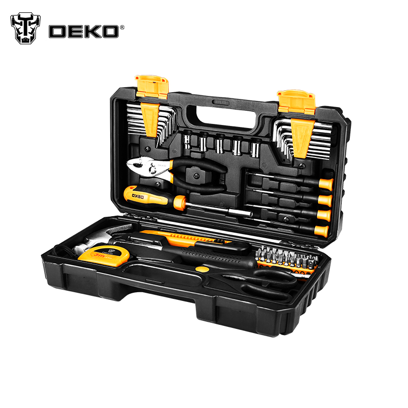 Tool Set DEKO DKMT62 Hand Tool Set Knife Tool Case