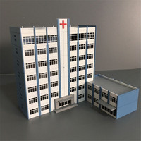 N scale 1/150 160 sand table scene model hospital city train station scene plastic assembly model