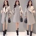 Primavera Otoño Invierno mujeres Abrigo De Lana Capa delgada Sólida Corea Moda mujer chaquetas de Lana para Mujer Escudo
