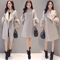 Spring Autumn Winter Women's Wool Coat Solid slim Coat Korean Fashion female jackets Ladies Woolen Coat