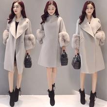 Spring Autumn Winter Women's Wool Coat Solid slim Coat Korean Fashion female jackets Ladies Woolen Coat