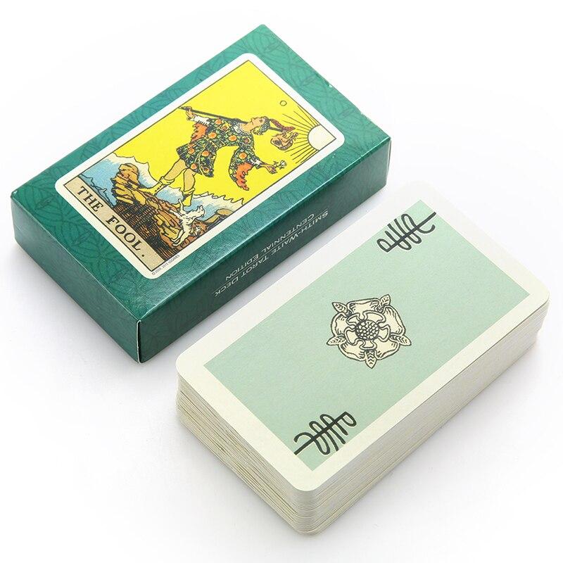78Pcs/Set Funny Cards Smith Tarot Deck Board Game Cards Full English Radiant Rider Wait Tarot Cards 10.5 cm x 6.2 cm x 2.5