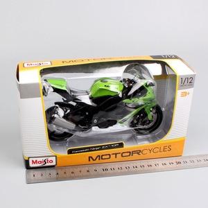 Image 5 - Kids 1:12 Maisto Kawasaki NINJA ZX 10R ZX 10R sport diecast vehicle mini motorbike racing motorcycle Scale model toy black gold
