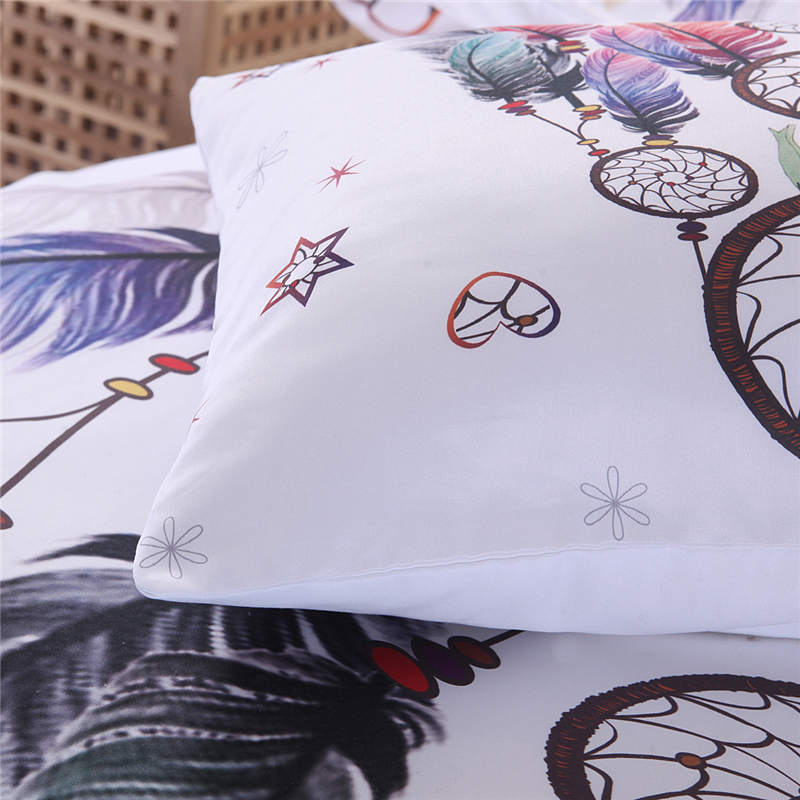 SLOWDREAM Bohemian Bedding Set Flat Sheets Bedspread Duvet Cover Single Double Adult Twin Queen King Bed Linen Set Bedclothes in Bedding Sets from Home Garden