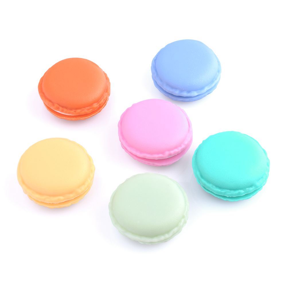 Lovely  PP + TPE Mixed Macaron Cake Shape Earrings Ring Necklace Jewelry Storage Display Boxes  Mini Macarons Gift Package Box