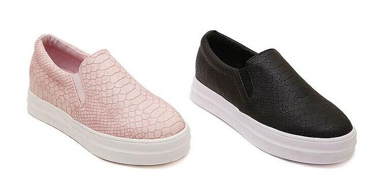 Aliexpress.com : Buy Women Slip On Snake skin Flats Casual Loafers ...