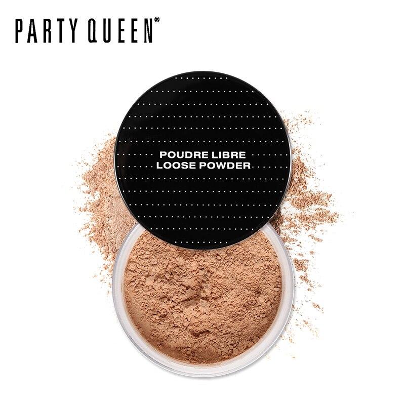 Pesta Ratu Prima Tipis Pengaturan Longgar Bubuk Ultra Definisi Minyak Memperbaiki Bubuk Dengan Puff Makeup Finishing Wajah Abadi