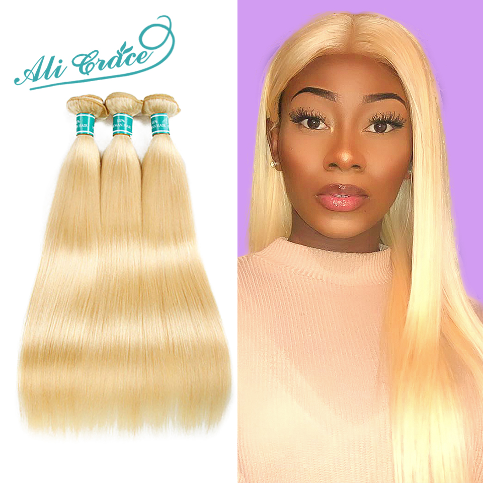 Precise Alipearl Blonde Hair Bundles With Frontal Colored #27 Lace Frontal Closure With Bundles Remy Hair Human Hair Weaves