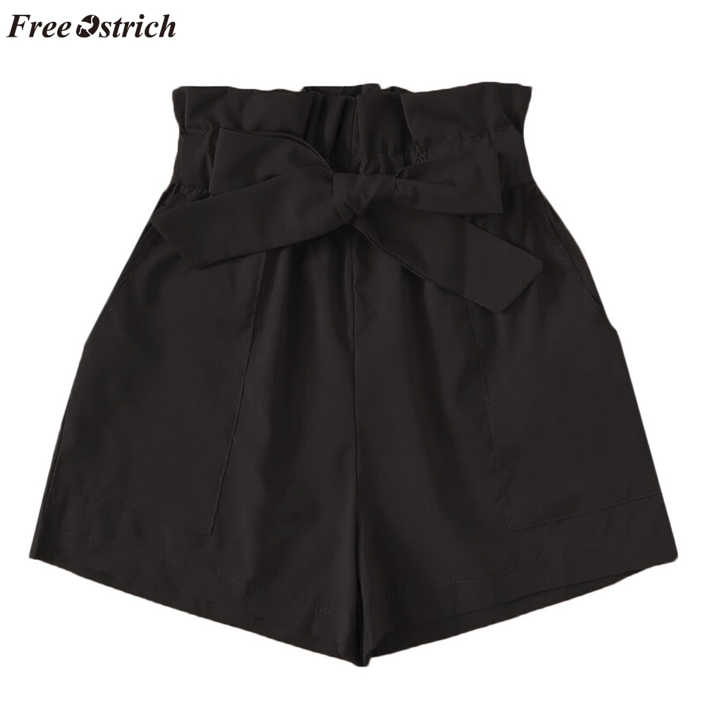 FREE OSTRICH   Shorts   fashion trend women's solid color simple comfortable pocket loose summer beach travel vacation casual   shorts