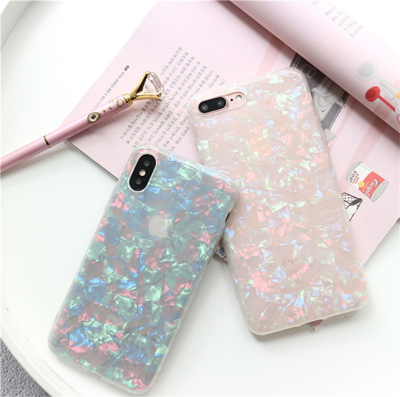 HTB1bIYHnmtYBeNjSspkq6zU8VXaG - USLION Glitter Phone Case For iPhone 7 8 Plus Dream Shell Pattern Cases For iPhone XR XS Max 7 6 6S Plus Soft TPU Silicone Cover