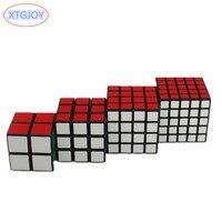 4 stks/set Puzzel Kubus 2x2x2, 3x3x3, 4x4x4, 5x5x5 Professionele Snelheid Leren & Educatief Puzzel Cubo Magico Speelgoed