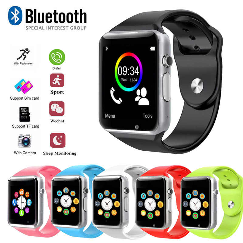 A1 WristWatch Bluetooth Smart Watch Sport Pedometer with SIM Camera Smartwatch Healthband For Android Smartphone RussiaT15 Oct24