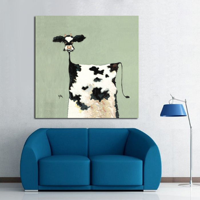 High Quality Handpainted Oil Painting Cow Paintings Wall Art On Canvas Modern Abstract Art Best Gift Pictures Home Decor