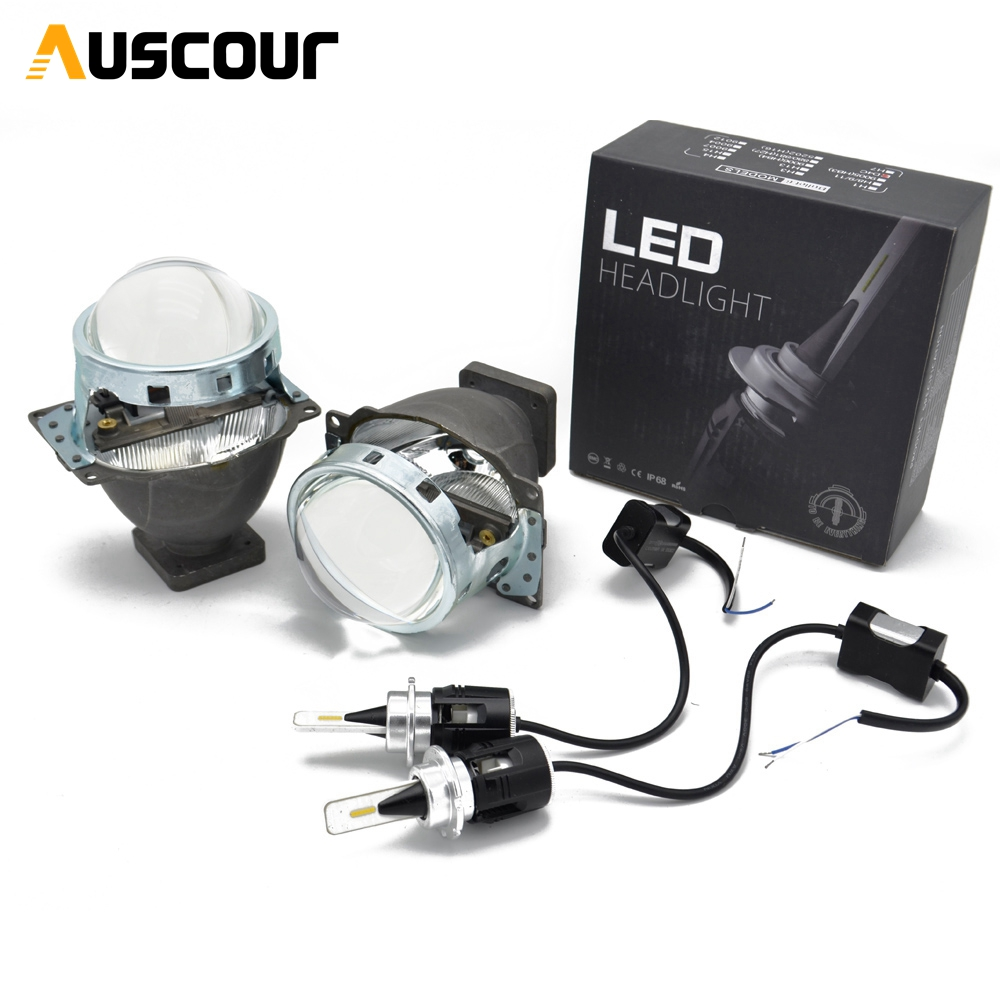 2pcs 3.0 inch Bi Xenon Projector Lens for Car Headlight 3.0 Koito Q5 35W with D1S D2S D2H D3S D4S CSP Y11 Chips LED bulb modify