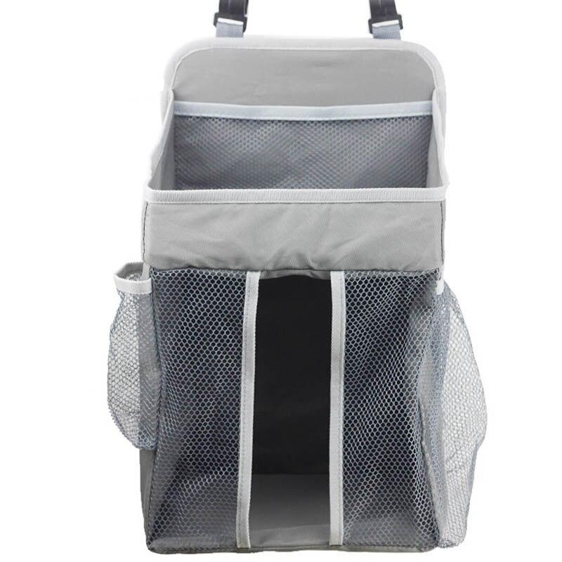 Портативный органайзер для детской кроватки, подвесная сумка для детской кроватки, сумка для хранения пеленок, набор постельного белья, сумки для подгузников - Цвет: grey