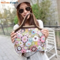 New Fashion Canvas Waterproof Lunch Bag Family Picnic Bag Box Dots Flower Cartoon Design Lady Hand Bag Storage Food Bags