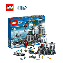 LEGO Ciudad Isla Prisión Placa Kit de Juguetes Educativos Para Niños Bloques De Construcción Modelo de Arquitectura LEGC60130