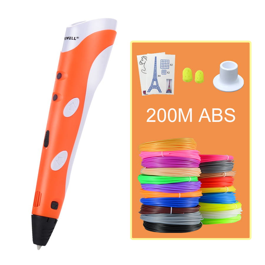 3D Printing Pens 12V 3D Pen Pencil 3D Drawing Pens with Free 200m ABS Filament For Kids Child Education Tools Hobbies Toys