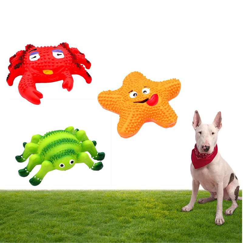 New Pet Dog Chewing Latex Toy Squeaky Sound Toy Funny Animal Shape Interactive Toy for Puppy Doggy