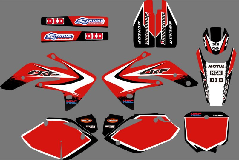GRAPHICS & BACKGROUNDS DECALS <font><b>STICKERS</b></font> <font><b>Kits</b></font> for <font><b>Honda</b></font> CRF150R LIQUID COOLED 2007 2008 2009 2010 2011 2012 CRF <font><b>150</b></font> R image