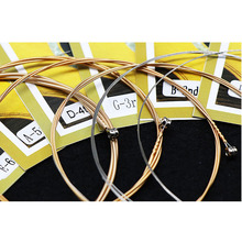купить 6 Pieces/Set Acoustic Guitar Strings 011-052, 012-053 Light,Super Light Copper Alloy Wound Anti-Rust Guitarra Parts Alice AW432 дешево