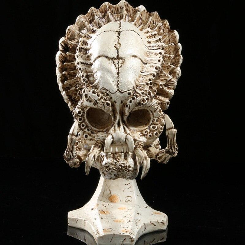 Инопланетяне против хищника, скульптура, реквизит, украшение для аквариума, изделия из смолы, сделай сам, живопись, альбугиня, Череп, R179