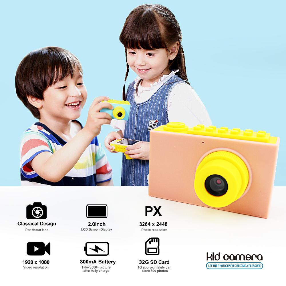 Children Educational Toddler Toy Mini Digital Photo Camera Educational Toy For Toddler Kids Cartoon Game Photo Birthday Gift