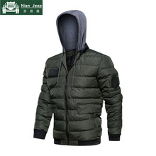Brand New Fashion Hooded Jacket Men Winter Outwear Thick Warm Military Bomber Jacket High Quality Mens Parkas Plus Size M-5XL(China)