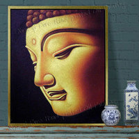 100% Hand Painted Wall Canvas Modern Paintings Buddha Painting Abstract Oil Paintings Home Decorative Wall Art(No Frame)