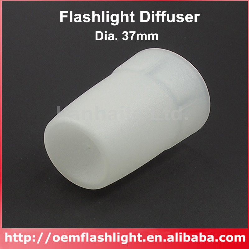 KBLD-37 Beam Light Flashlight Diffuser LED Flashlights - White (Dia. 37mm)