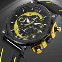 MEGIR Men Watches Analog Quartz Wristwatch Waterproof Chronograph Auto Date Sports Army Military Watch Male Relogio