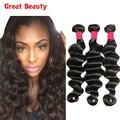 Mocha Hair Products 3Bundles Deal Malaysian Virgin Hair Loose Deep Wave 7A Grade Unprocessed Wet and Wavy Human Hair Weaving #1B