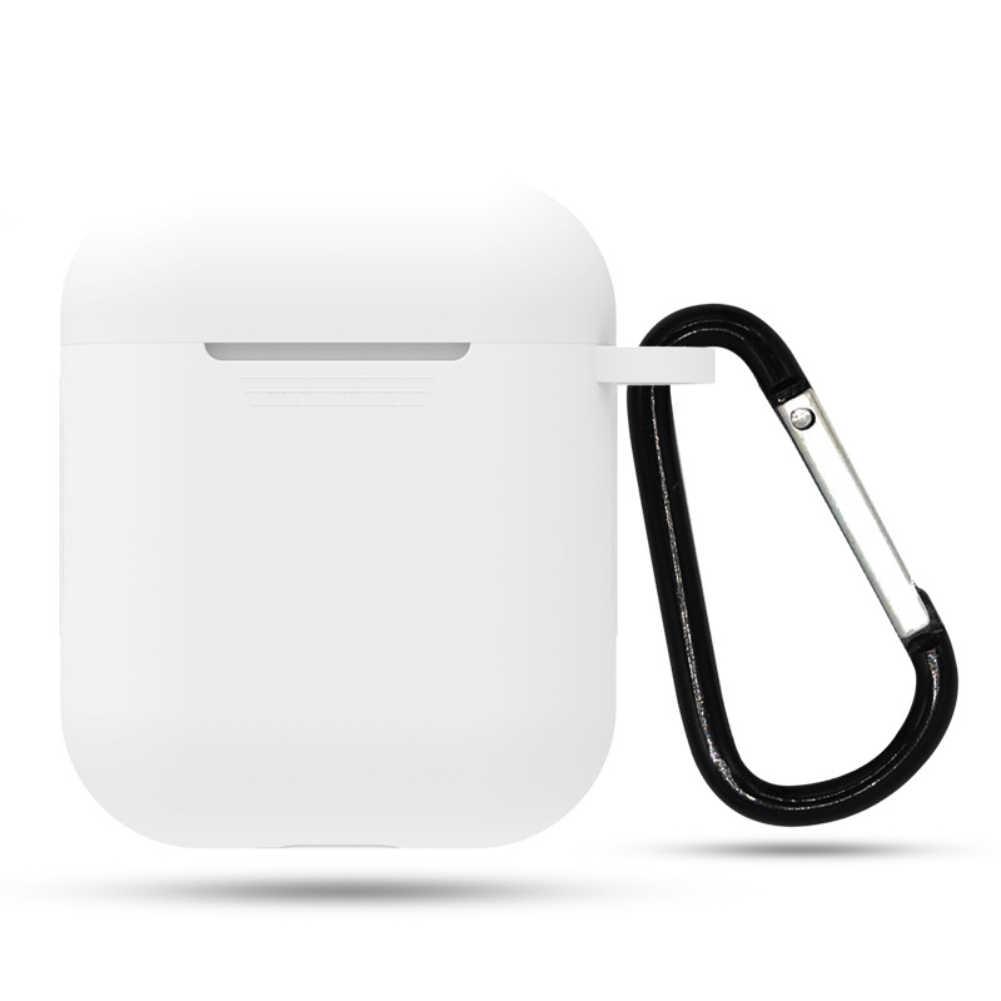 Mini Capa de Silicone Macio Para A Apple Airpods AirPods Fone de Ouvido À Prova de Choque Capa Para Apple Caso Protetor de Casos de Vagens de Ar Ultra Fino