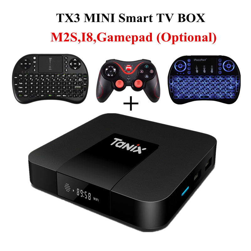 Tanix TX3 Mini Android 7.1 Smart TV Box Amlogic S905W 2.4GHz WiFi 1G 2G DDR3 16G Support 4K HD H.265 Media Player Set-top TV Box