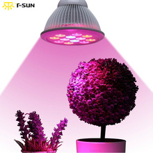 New LED Grow Light Bulb for The growth of Plants Full Spectrum LED Fitolampy for Flowering Hydroponics System full spectrum led grow lighting 49 3w 147w mini ufo good for the growth of plants free shipping to russia