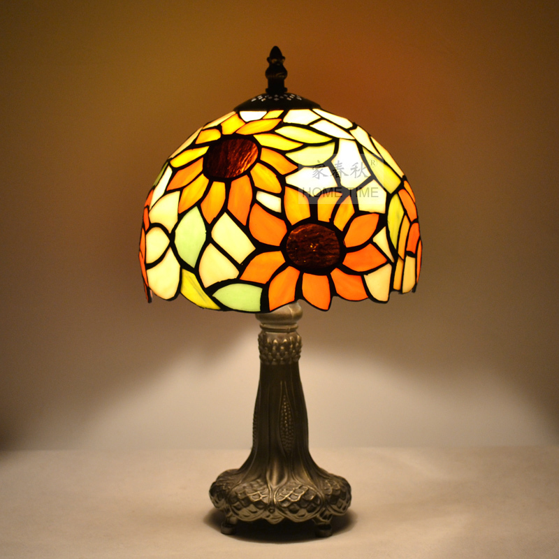 Tiffany table lamp fashion romantic lighting rustic bed ...