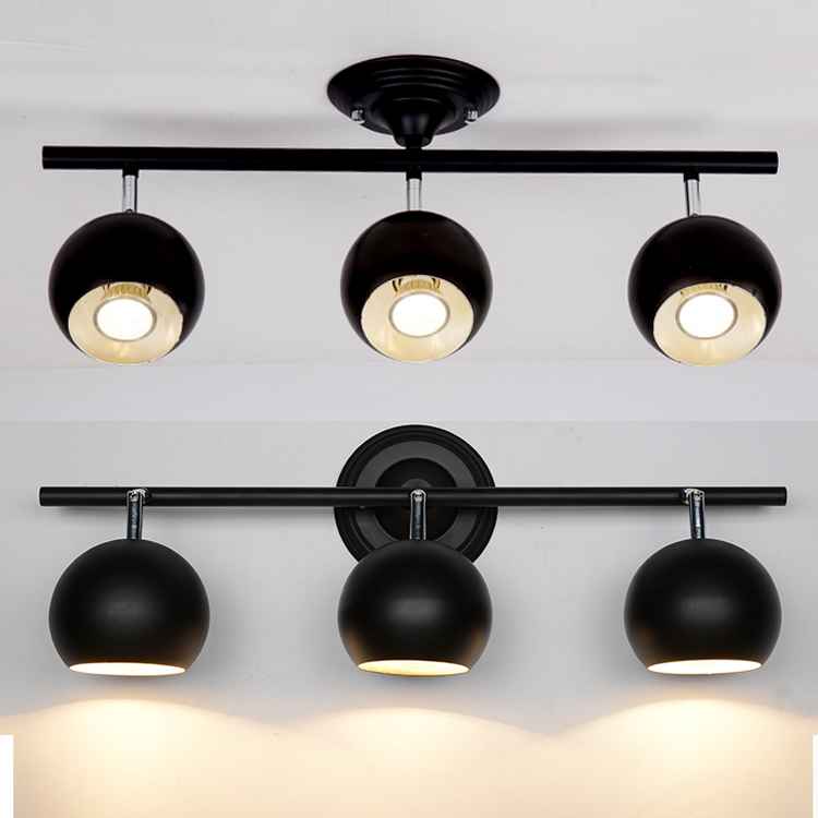 A1 clothing store LED spotlights track lights can be rotated dome light installation TV background head lamp a1 clothing store led track lights can