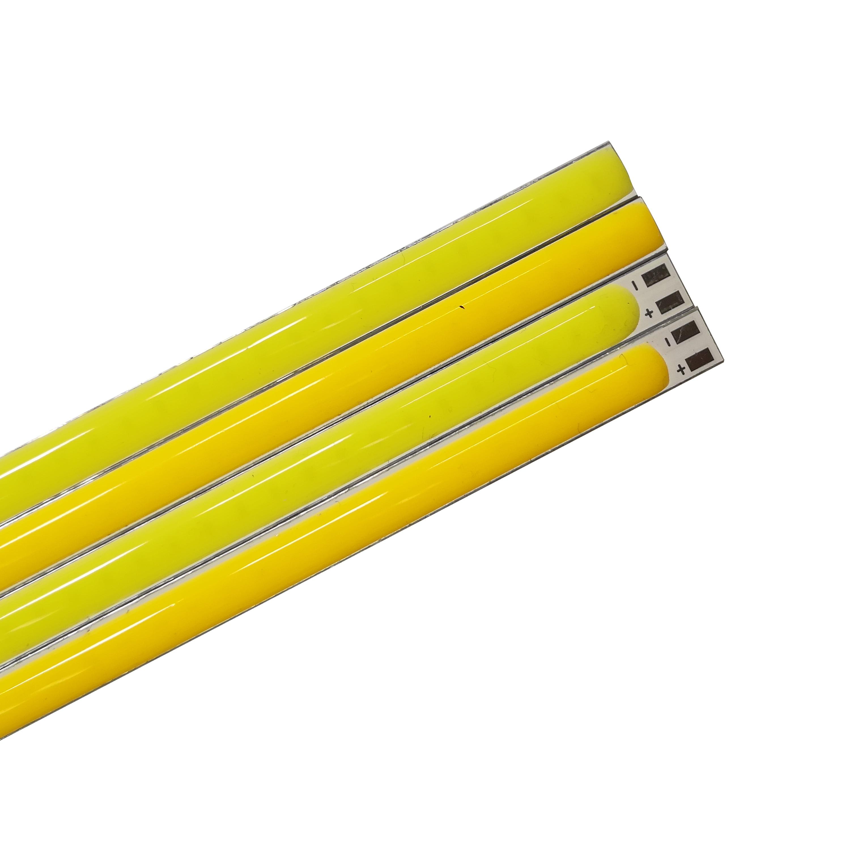 Купить с кэшбэком 5PCS 200x6mm LED COB Strip LED Strip 12V DC 8W Bar light Warm White for DIY 12V Outdoor light COB Camping Lamp COB led source