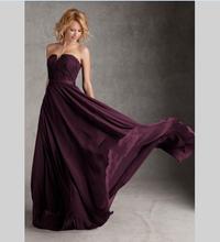 Simple Long Bridesmaid Dress With Pleats 2016 Custom Made Sweetheart Backless Women Formal Dress