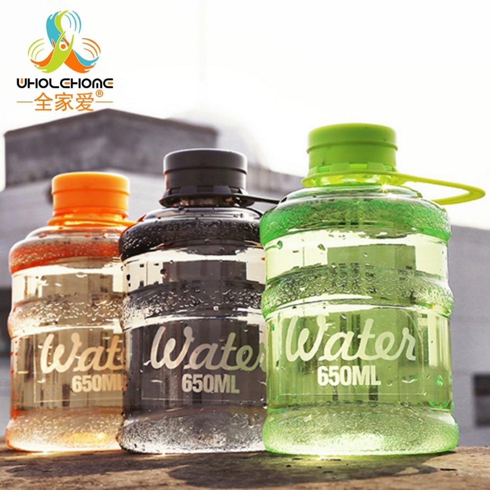 650ML Hot Sale Portable 5 colors Leak-proof Bike Sports Unbreakable 650ml Plastic Water Bottle Free Shipping