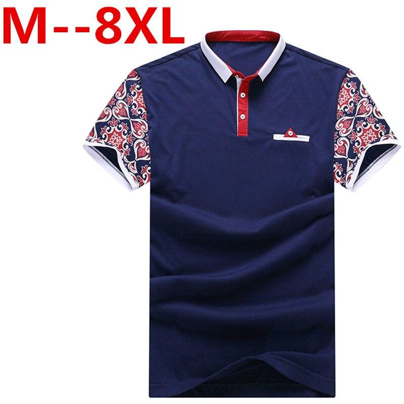 10XL 9XL 8XL 6XL 2019 New Men   POLO   Shirt Fashion Flower Print   Polo   Homme Slim Fit Short-sleeve Camisa   Polo   Men Summer Tops&Tees