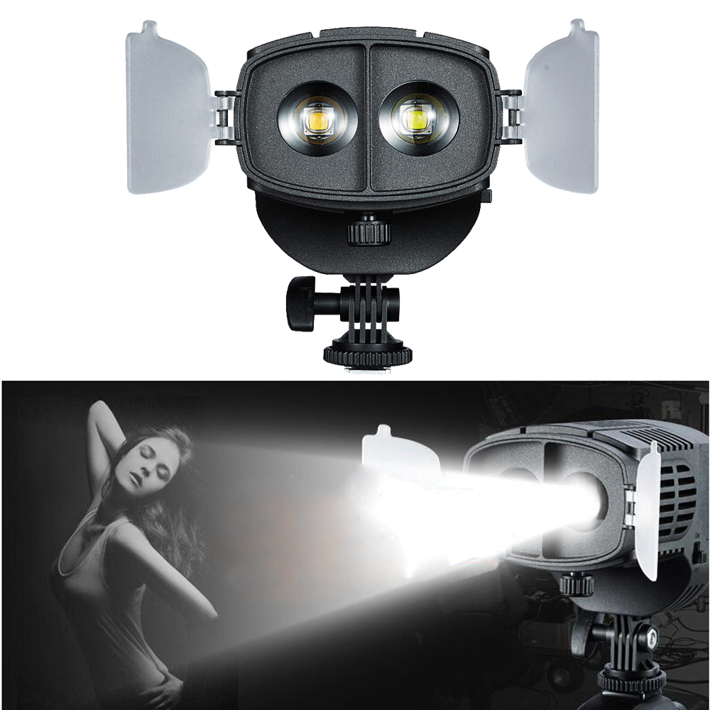 Bi-Color Dimming Spotlight to Flood Light LED Video Focus Light for Canon Nikon DSLR Camera DV Camcorder Photo Studio Wedding godox led 308y 308 leds professional led video 3300k light with remote control for canon nikon camera dv camcorder
