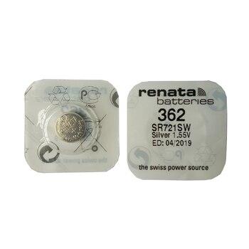 Часы RENATA 2pcsc с серебристыми оксидными часами 362 SR721SW 721 1,55 V 362 Renata 721