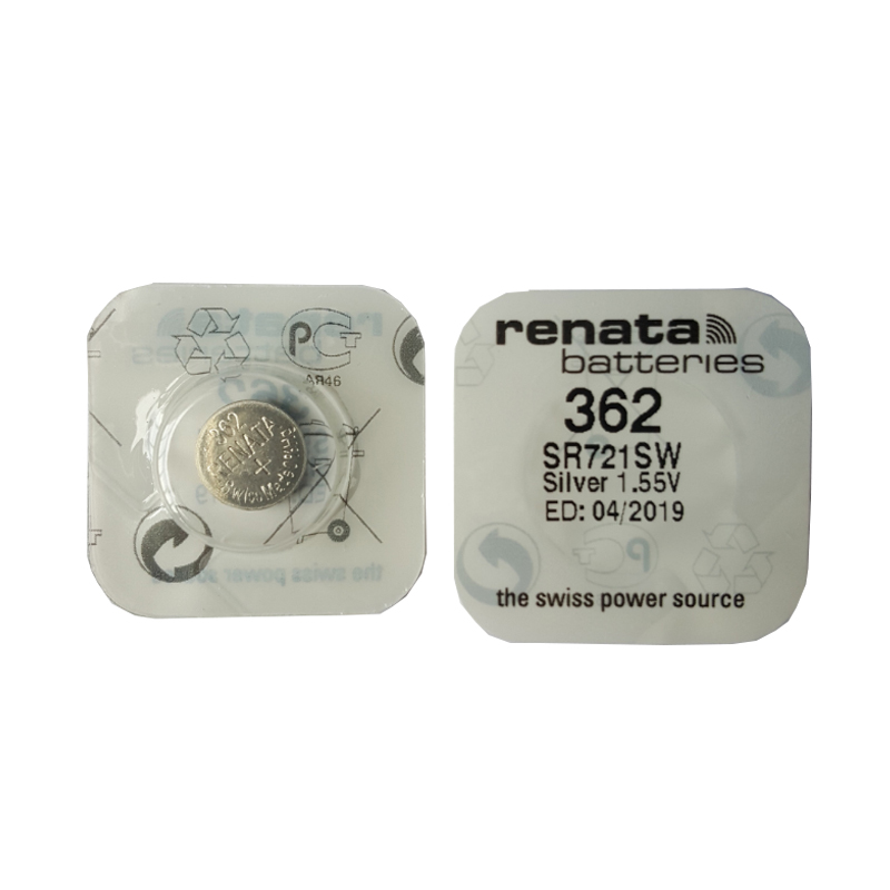 RENATA 2pcsc Silver Oxide Watch 362 SR721SW 721 1.55V 362 Renata 721 Battery