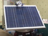 single axis sensor device with solar tracker