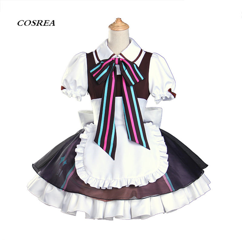 COSREA New Arrival Vocaloid Cosplay Costume Hatsune Miku Magical  Uniform With Apron Dress Costumes Halloween Party For Woman