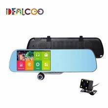 5.0 дюймов Сенсорный Зеркало Заднего Вида Автомобильный GPS навигации Android 1080 P автомобильный видеорегистратор Двойная камера FM gps Навигатор Не Радар-Детекторов Dashcam