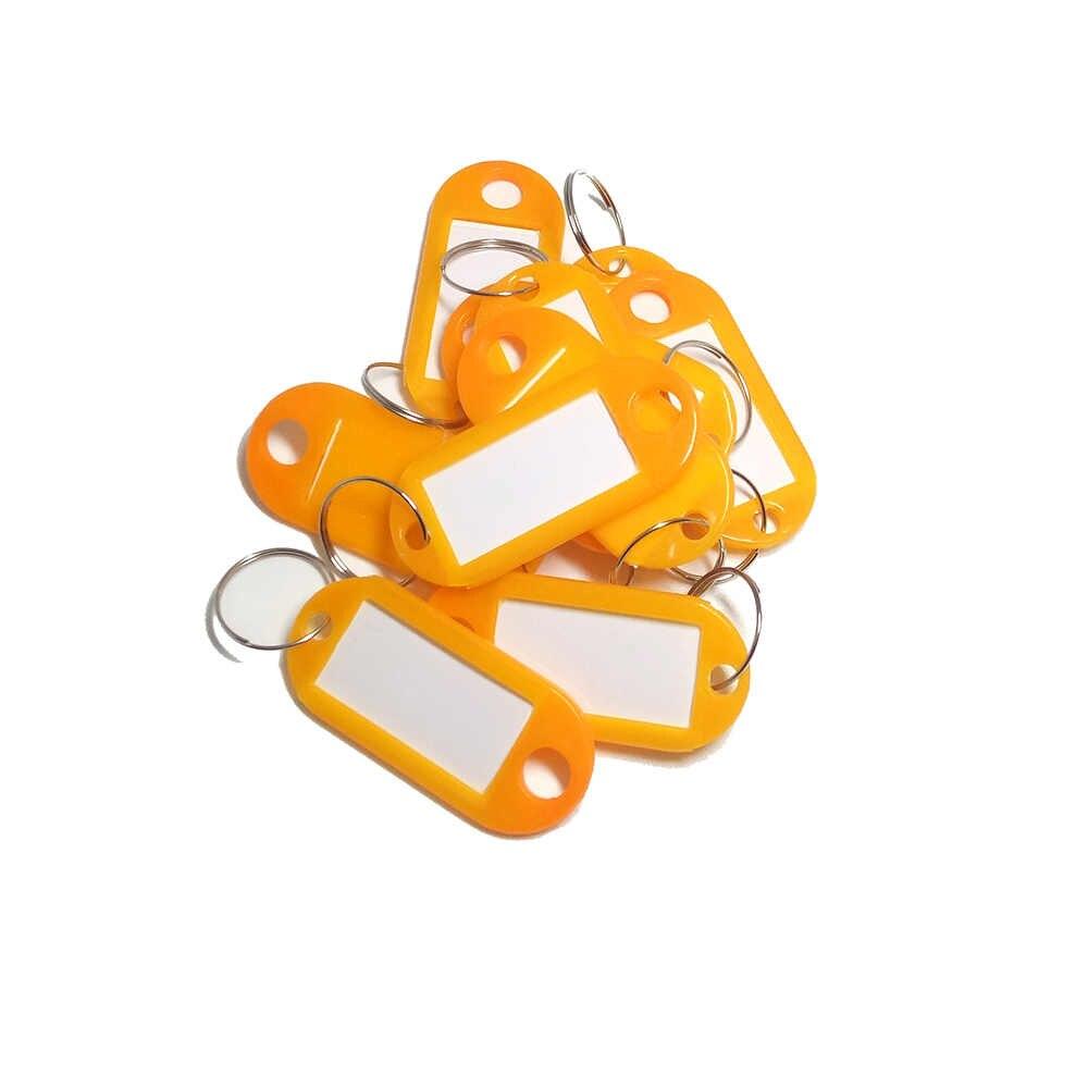 Tags de bagagem de bagagem de bagagem 1 pc personalizado plástico anel rachado id chave tags