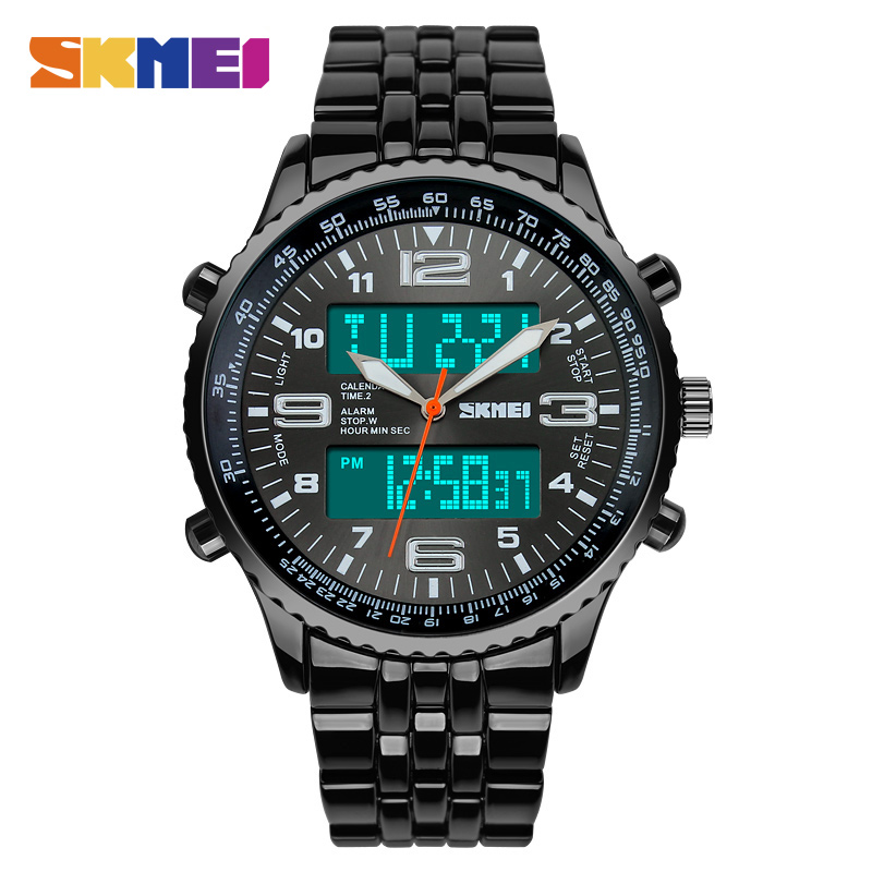 <font><b>SKMEI</b></font> Men Fashion Quartz Watch Waterproof Men's Business Sport Clock Watches Top Brand Luxury Dual Display relogio masculino1032 image